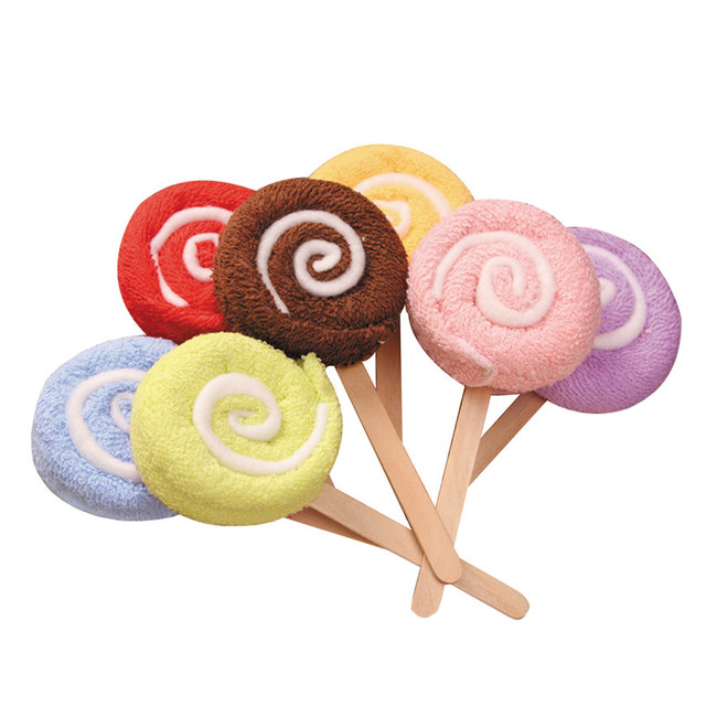 30pcs/lot Lollipop Towel Festive Birthday Party Favor Present Gift Home Decorative Accessories Supplies Gear Stuff Product
