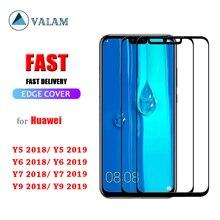 Temperato Protezione Dello Schermo di Vetro Per Huawei Y9 Y7 Y6 Y5 2019 di Vetro Per Huawei Y9 Y7 Y6 Y5 2018 Prime 2018 9 di Vetro di protezione