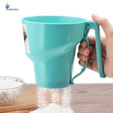 Upspirit Воронка Форма муки сито мелкоячеистый порошок Мука сито сахарная глазурь ручной сито чашка домашняя кухня Выпечка Кондитерские инструменты