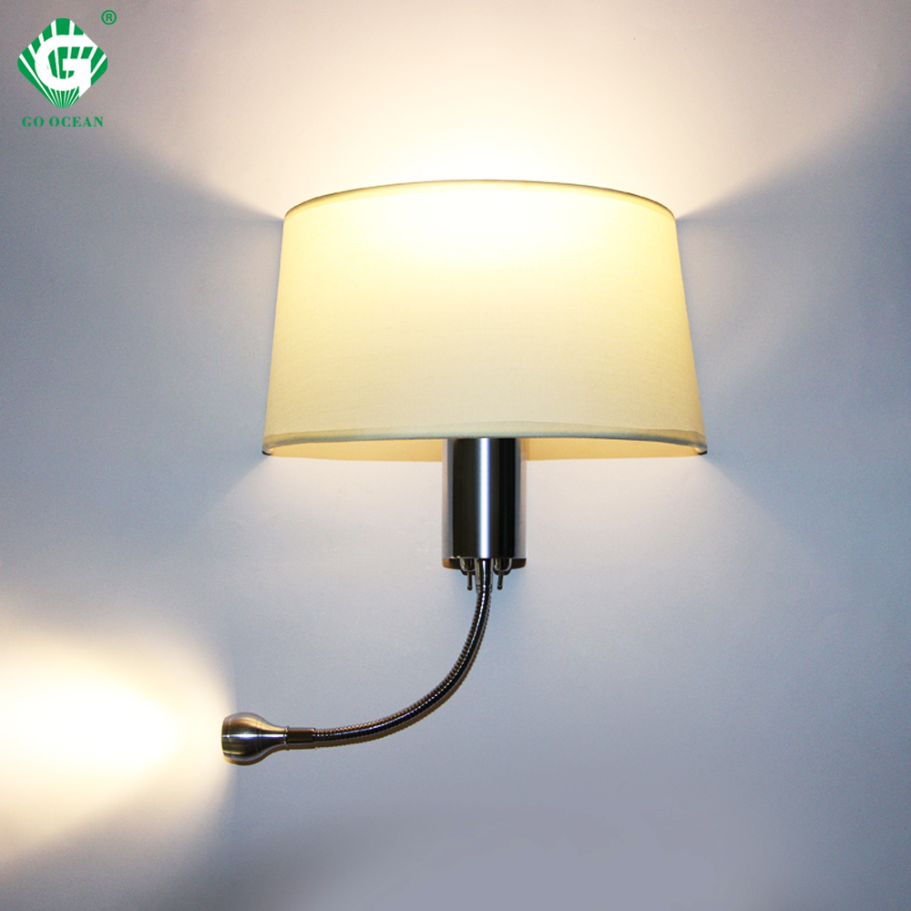 Modern LED Wall Lamp with Switch E27 Bulb Bedroom Sconces ...