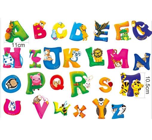 Веселый английский алфавит в картинках