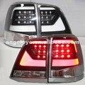 Luz da cauda Para A Toyota Land Cruiser LC200 FJ200 2008-2015 ano LED Luzes Traseiras Preto Habitação Tampa Transparente YZ