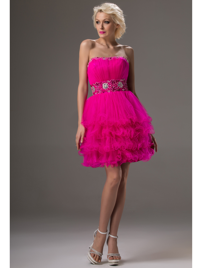 Online Buy Wholesale fuchsia strapless dress from China fuchsia ...