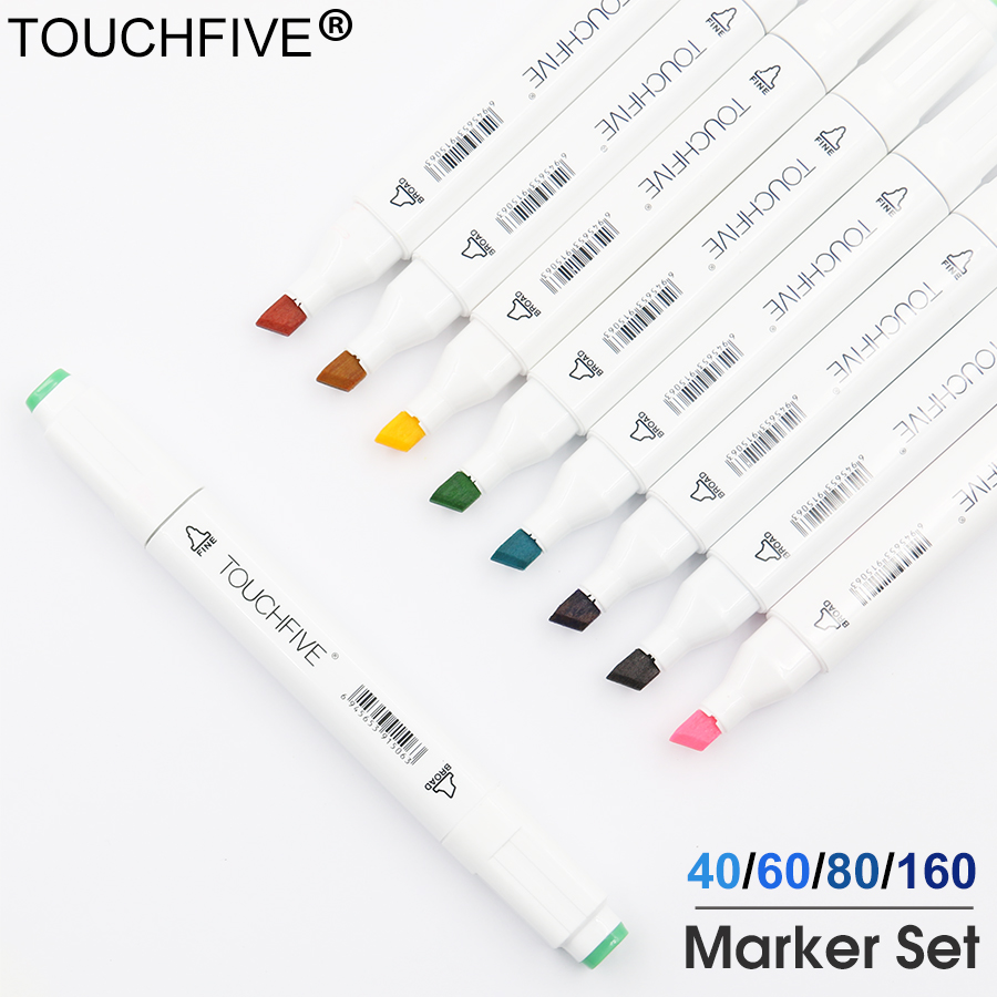 TOUCHFIVE 30 Colors Single Art Markers Brush Pen Sketch Alcohol Based Markers Dual Head Manga Drawing Pens Art SuppliesTOUCHFIVE 30 Colors Single Art Markers Brush Pen Sketch Alcohol Based Markers Dual Head Manga Drawing Pens Art Supplies