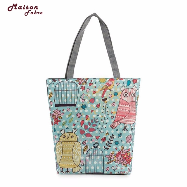 Maison Fabre Fashion Printing Canvas Tote Casual Drawing Beach Bags Women Ping Bag Handbags Dropshipping Fre24