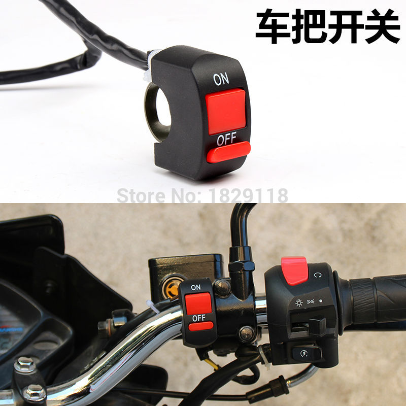 Universal Handlebar Motorcycle Autobike Motor Bike Motorcross Soocter Autocycle Accident Hazard Light Switch ON/OFF Button ...