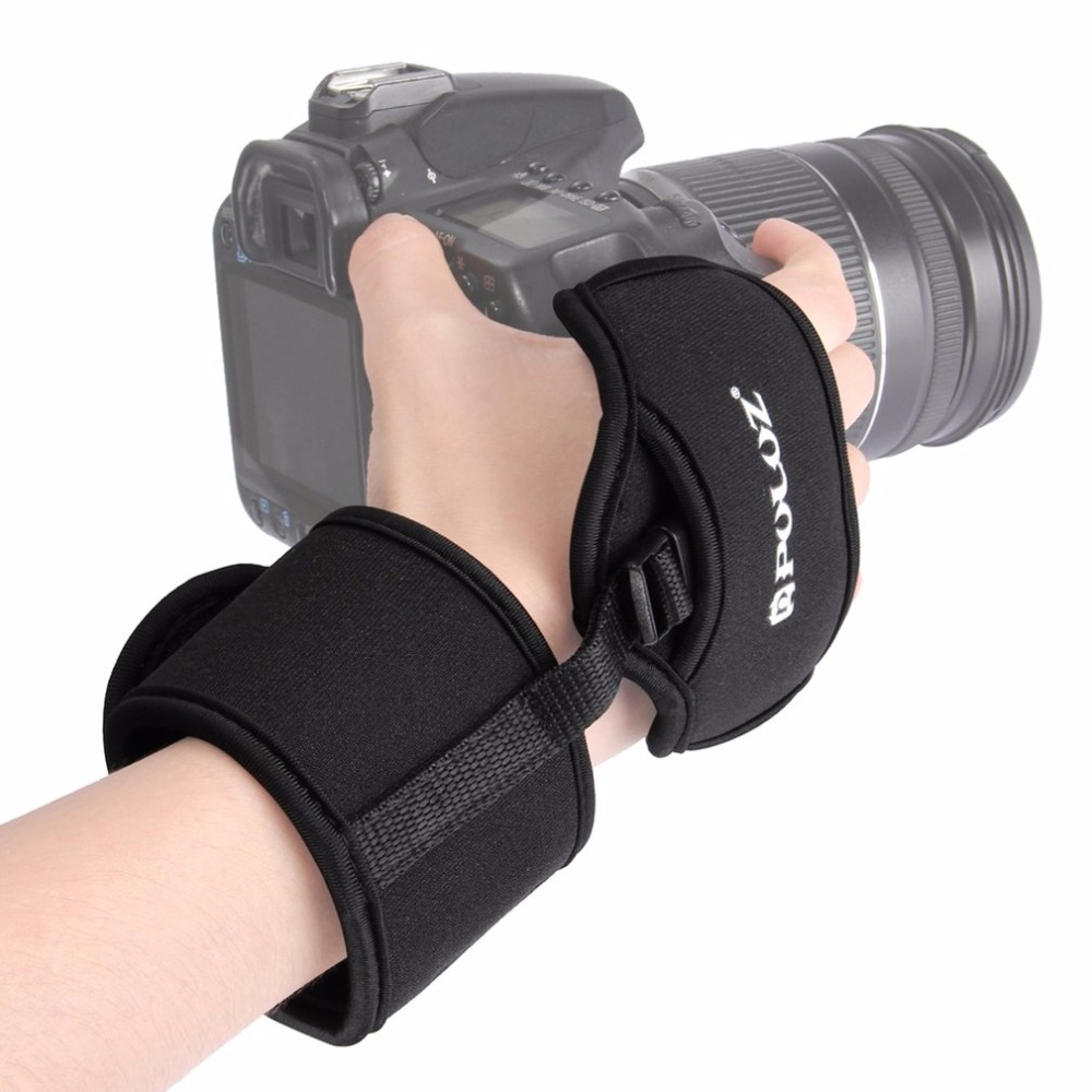 PULUZ Soft Neoprene Hand Grip Wrist Strap With 1/4 Inch Screw Plastic Plate Professional Camera Accessory For SLR/DSLR Camera