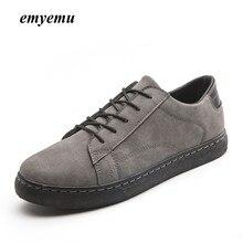 ФОТО emyemu hot sale men fashion casual shoes man vulcanize shoes lace-up casual low top pipe retro