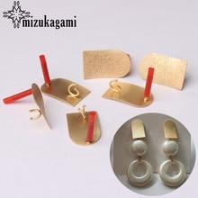 Boucles d'oreilles en alliage de Zinc à géométrie dorée, connecteurs de Base, accessoires de fabrication de bijoux, 6 pièces, 20*12mm