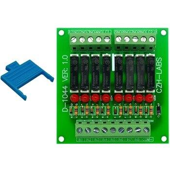 Slim Panel Mount DC5V Source/PNP 8 SPST-NO 5A Power Relay Module, APAN3105