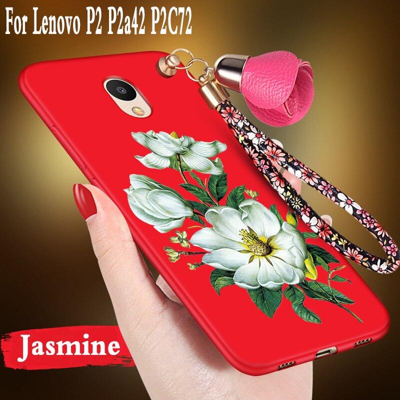 For Lenovo P2 P2a42 Case Cute Cartoon 3D flowers for lenovo p2 case Silicone For lenovo P2 P2 a42 P2C72 C72 case cover tpu armor