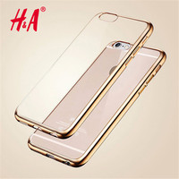 Electroplate Phone Case for Apple iPhone 7 7 Plus Luxury TPU Silicone Soft Back Cover Case for iPhone 6 7 5 5s SE 6s Plus Cases