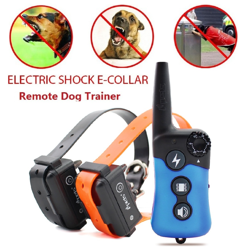iPets PET619 300M Remote Dog Training Collar Rechargeable Waterproof 100Levels Vibration Shock Electronic Dog Training Collars