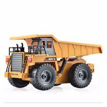 Uina Игрушечные лошадки 1540 шестиканальный 6ch 1/12 40hmz RC металлический самосвал Радиоуправляемые игрушки RTR с зарядки Батарея