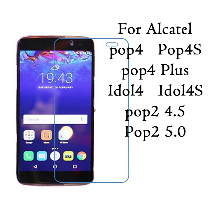 0.26mm safety Protective Film Tempered Glass Film screen protector 9H for Alcatel one <font><b>touch</b></font> Pop2 4.5