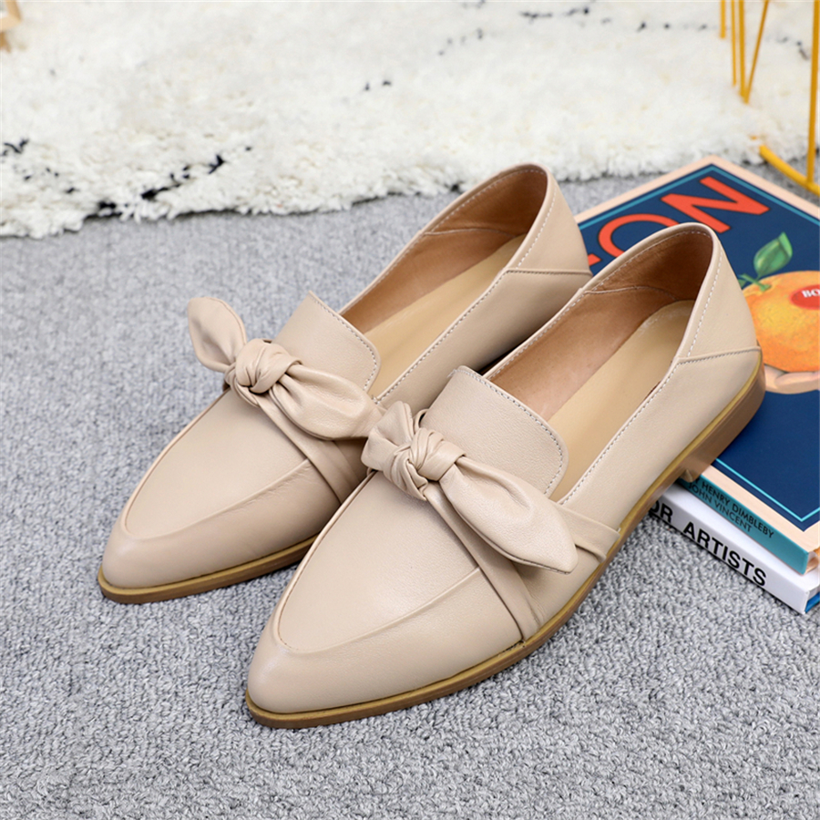 Genuine cow leather brogue casual designer vintage lady flats shoes handmade oxford shoes for women green white grey 2019 springGenuine cow leather brogue casual designer vintage lady flats shoes handmade oxford shoes for women green white grey 2019 spring