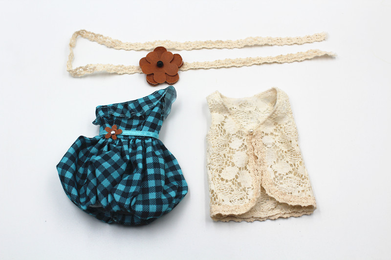 1//6 Doll Organza Lace Leggings Outfit for Blythe Takara for  Clothes