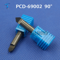 Free shipping cnc router stone and wood engraving bits 1pc 45/60/90 degree 6mm PCD Bit CNC Diamond Hard Granite Tools