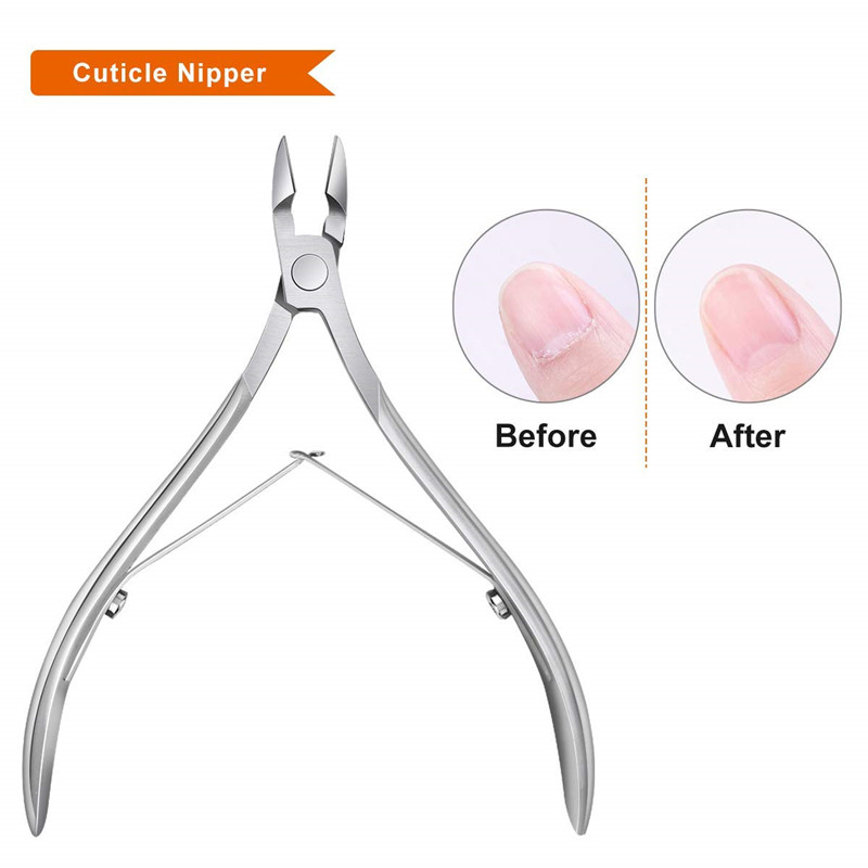 1PC Cuticle Cutter Dead Skin Remover Cutter Fingernail Toenail Clipper Stainless Steel Cuticle Trimmer Pedicure Manicure Tool