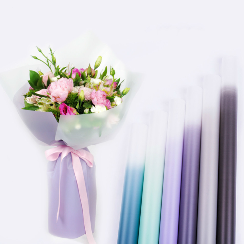 Gradient color korean gift wrapping paper flower bouquet packing gradient color korean gift wrapping paper flower bouquet packing paper florist decoration party supplies 20pcslot izmirmasajfo