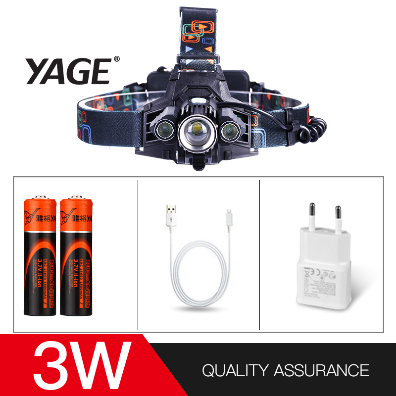 YAGE high power led head touch Forehead Flashlight Cree Head Lamp Led Lintern Touch Fishing Lanterna 2*18650 Battery front lamp yage headlight led flashlight fishing light head lamp for hunting mini touch 2 mode switch convenient specialized outdoor lamp