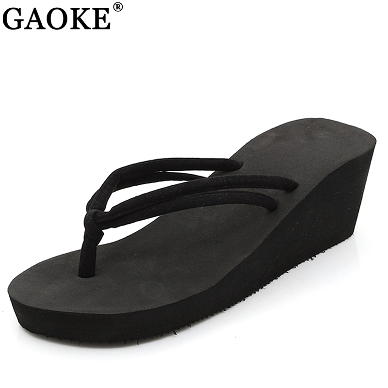 Clip Toes Flip Flops Shoes Womens Wedge Sandals Summer Sandals Casual Beach Slippers EVE Waterproof Platform Wedges Sandals bamboo womens driven 77 casual wedge