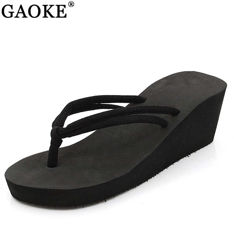c69339ccbae24b Detail Feedback Questions about Clip Toes Flip Flops Shoes Womens Wedge  Sandals Summer Sandals Casual Beach Slippers EVE Waterproof Platform Wedges  Sandals ...
