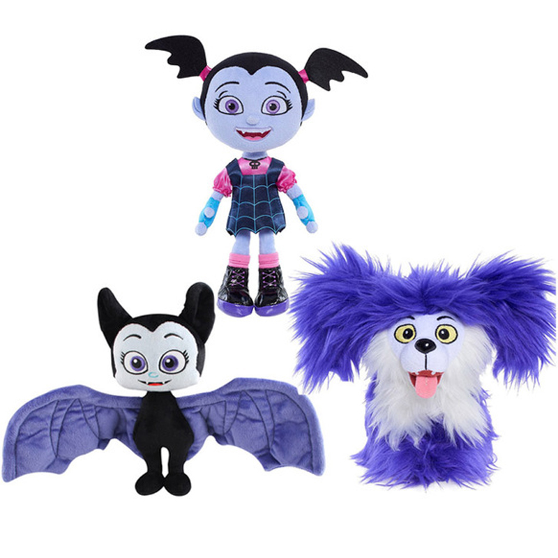 Junior Vampirina Plush Toys 18-25cm Reborn Doll The Vamp Batwoman Girl & Purple Dog Plush Stuffed Animals Toys for Kids Gifts hot 9pcs lot anime junior vampirina the vamp batwoman girl action toy figure pvc model toys for kids christmas birthday gift hot