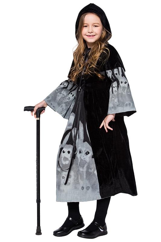 Хэллоуин День защиты детей костюмы скелет юбка с принтом Show одежда милый наряд костюм платье Хэллоуин вечерние карнавальных костюмов