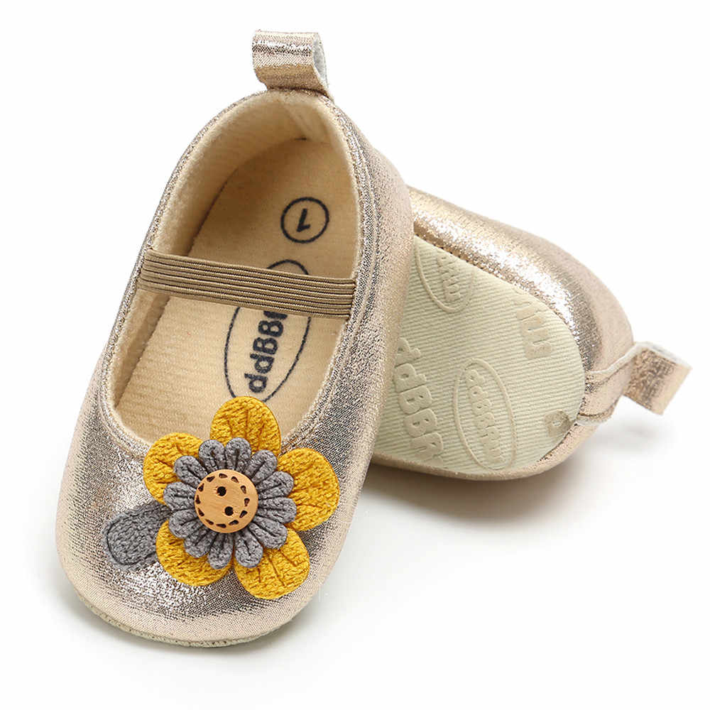 Baby Girl Leather Flower Shoes Keep Warm Fashion Toddler First Walkers Kid Shoe