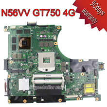 Original N56VV Laptop Motherboard for Asus REV2.0 Mainboard GT750 4G PGA 989 HM76 Fit N56VM N56VJ N56VZ N56VB tested well