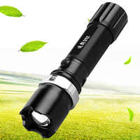 Aluminum alloy light self-rescue flashlight LED three gear dimming self-defense waterproof military super bright zoom flashlight