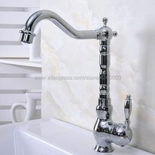 Deck Mounted Single Handle Bathroom Basin Faucet Brass Vessel Sink Water Tap Mixer Chrome Finish Kna933 все цены