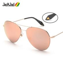 JackJad Fashion Oversized Ultralight Aviation Style Sunglasses Rose Gold Women Brand Design Sun Glasses Oculos De Sol Feminino