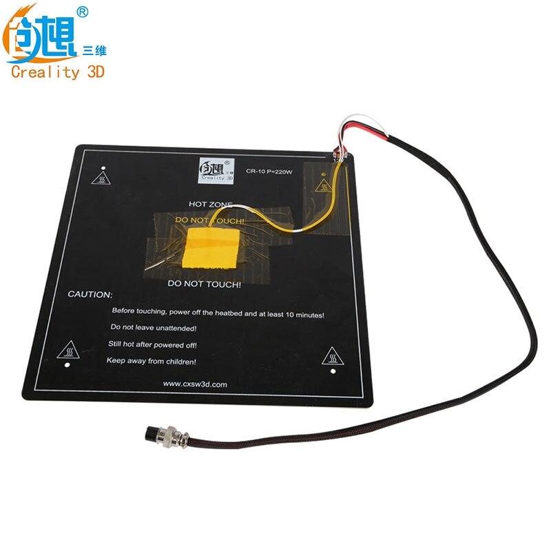 Gratuite DHL/Fedex Creality 3D Chauffée lit plaque pour CREALITY 3D CR-10/CR-10S/S4 Taille 300/400 Câble installé Bien