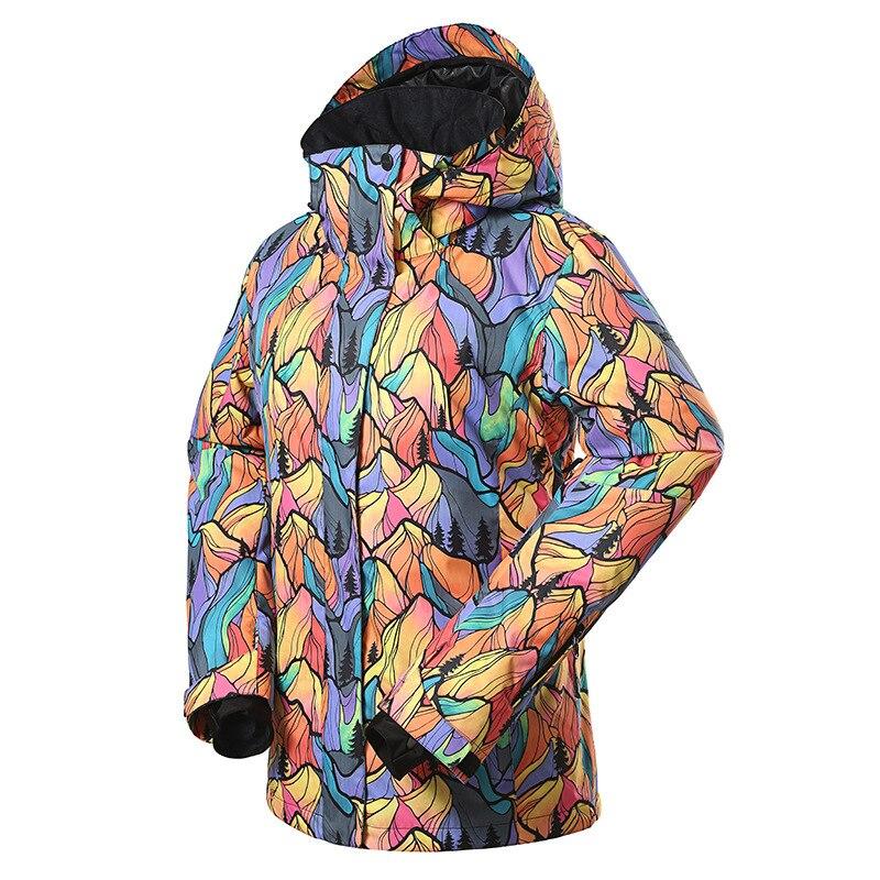 GSOU NEVE Terno De Esqui de Inverno da Marca das Mulheres Ao Ar Livre à prova de vento À Prova D' Água Jaqueta De Esqui Respirável Quente Algodão Roupas de Desgaste oposição - 2