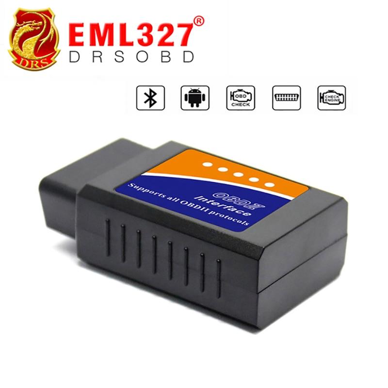 Precio al por mayor de BT ELM327 Bluetooth OBDII V1.5 CAN-BUS de diagnóstico del interfaz de escáner, bluetooth ELM 327 OBD 2 HERRAMIENTA de la exploración del coche