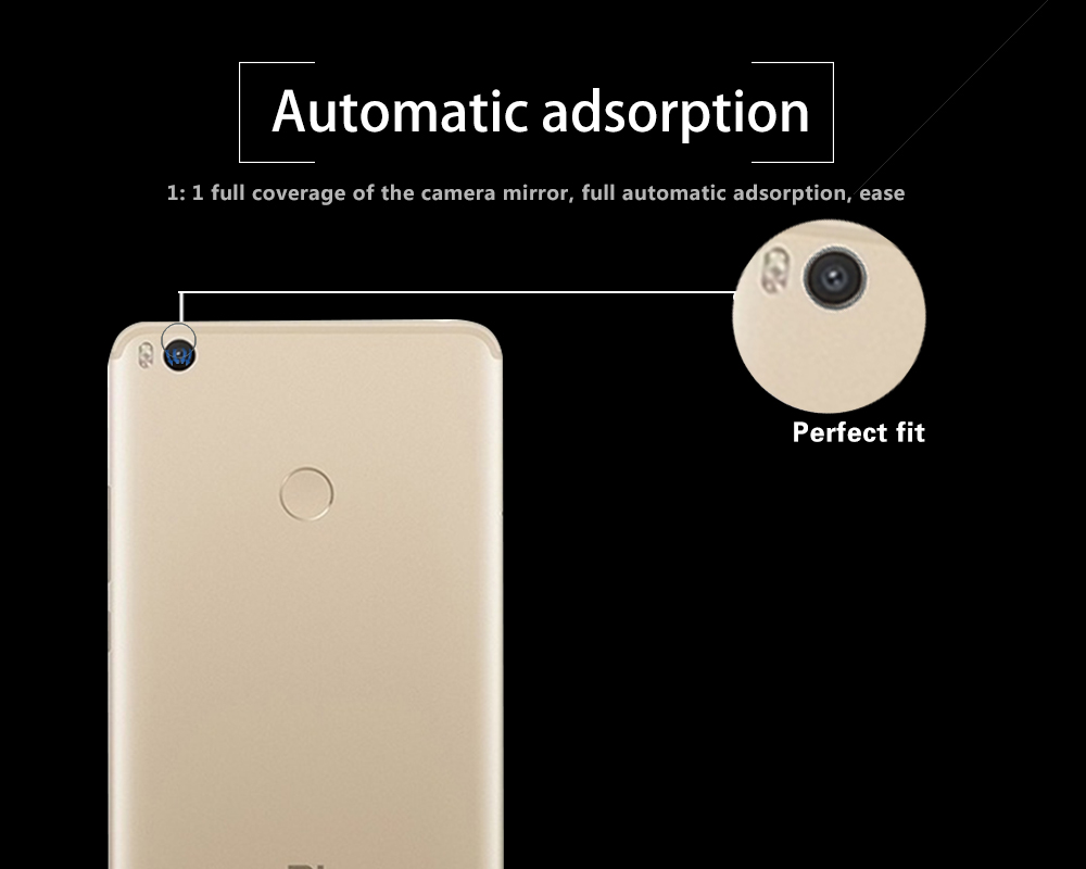 Ultra-thin Back Camera Lens Tempered Glass Film for Xiaomi Mi Max 2 6.44 Rear Lens Protective Film Glass With Cleaning Tools