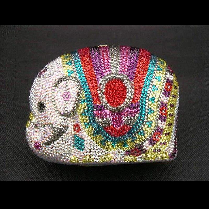 ФОТО ELEPHANT color-TC Crystal Animal Wedding Bridal Metal Evening purse clutch bag handbag case