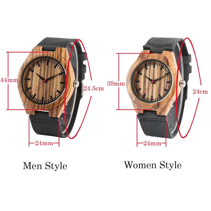 Wood Watches Minimalist Mens Natural Bamboo Clock Women Red Analog Quartz Watch Genuine Leather Bangle Gifts relogio de Madeira