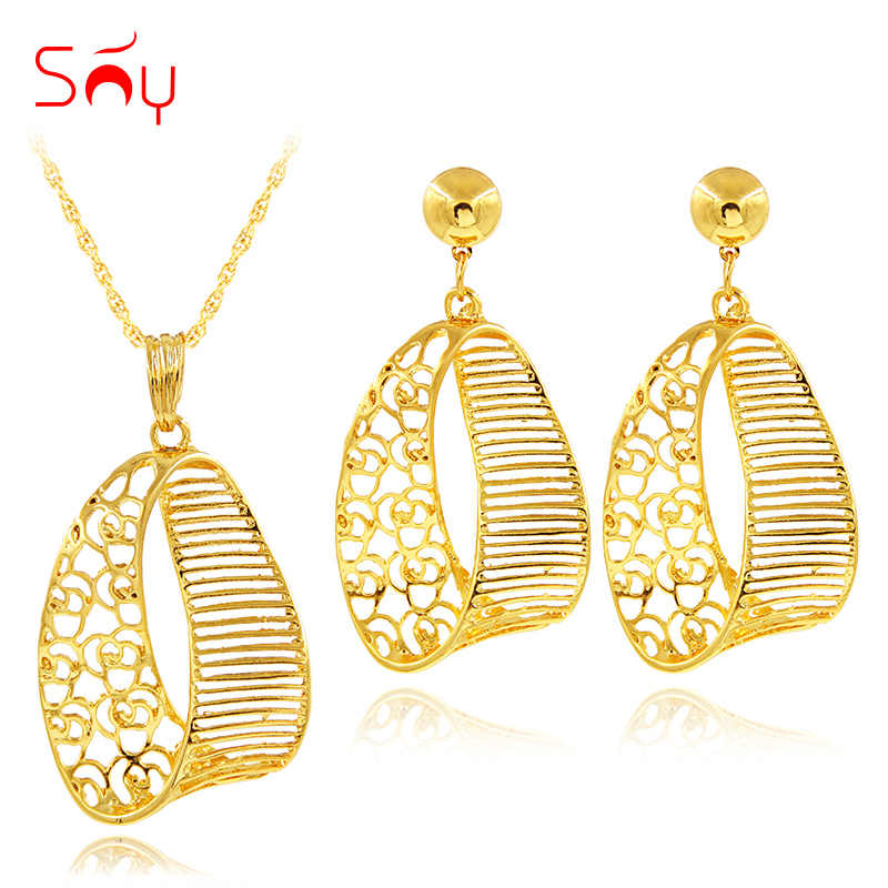 Sunny Jewelry Fashion Jewelry 2019 Jewelry Set Necklace Earrings Pendant Exquisite Jewelry Sets For Women Gift Hollow Out Fairy