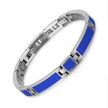 New stainless steel droplet magnet bracelet European and American fashion Ladies Blue drip Bracelet