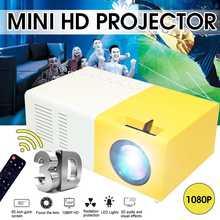 1080P портативный мини домашний кинотеатр Full HD проектор видео HDMI светодиодный проектор домашний кинотеатр проектор+ 100 ''экран проектора