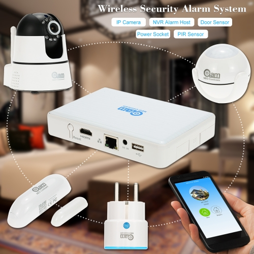 NEO Coolcam Wireless Alarm System IP Camera NVR Alarm Host PIR Sensor Door Sensor Support Phone APP Control For Home Security