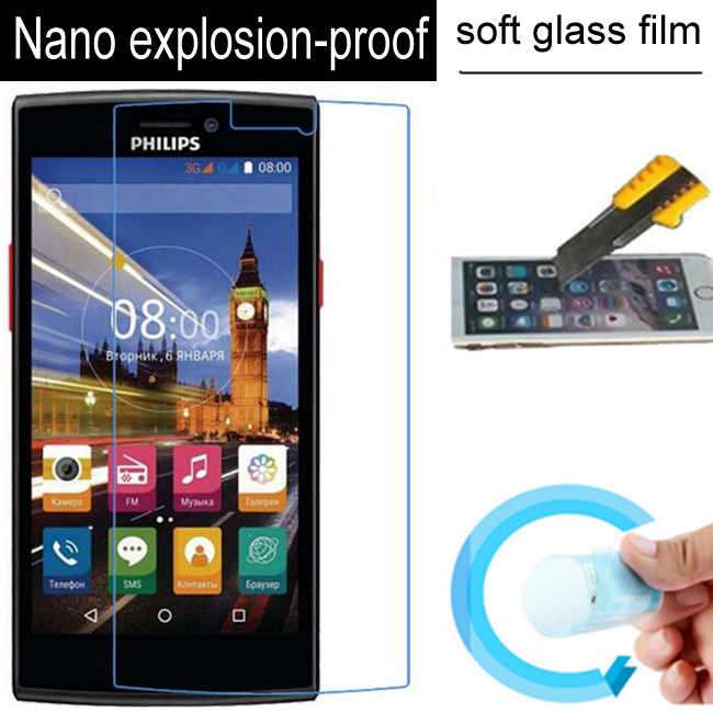 Nano Explosion-proof Soft Glass Screen Protector Protective Lcd Film For Philips S337 V787 S308 S309 Sapphire S616 Xenium V377 image