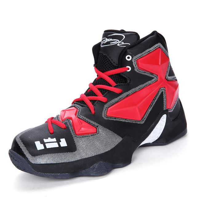 85d22f1aacdbe Men High Quality Basketball Shoes Sneakers Black White Boots Plus Size  36-45 Lebron James