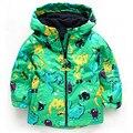 Estilo caliente caliente! otoño nueva Boy dinosaurio capa chaqueta impermeable tamaño 2 a 6 años de edad envío gratis