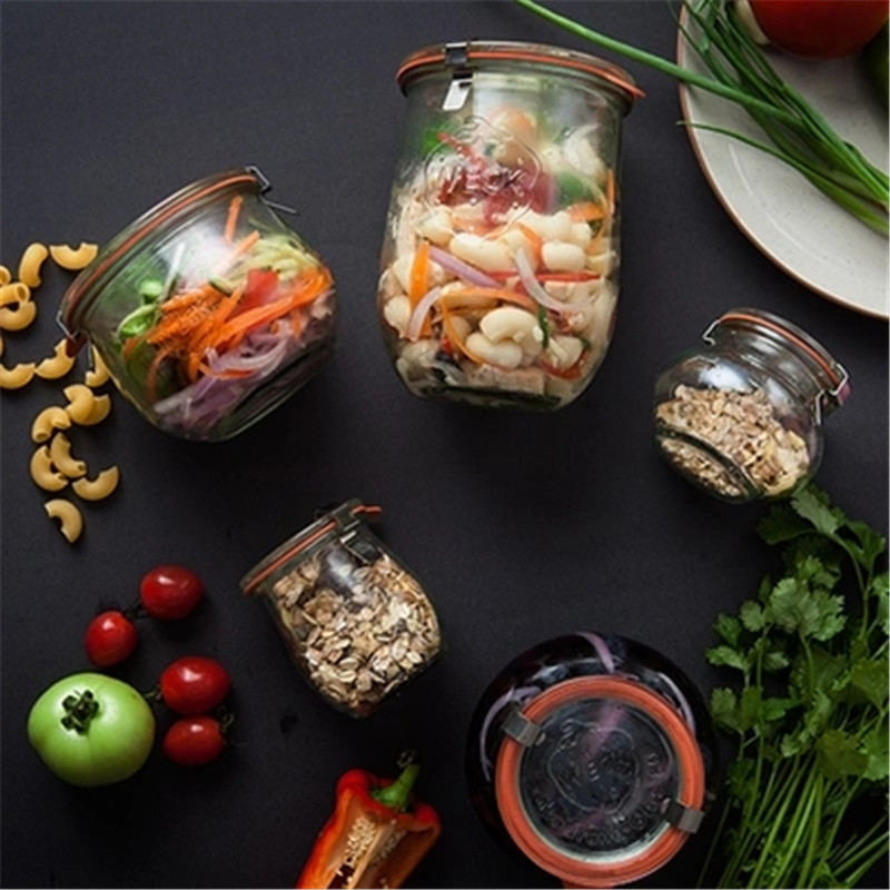 KINGLANG Kitchen sealed cans glass storage jars transparent tea cans with lid enzymes jars food sugar cans