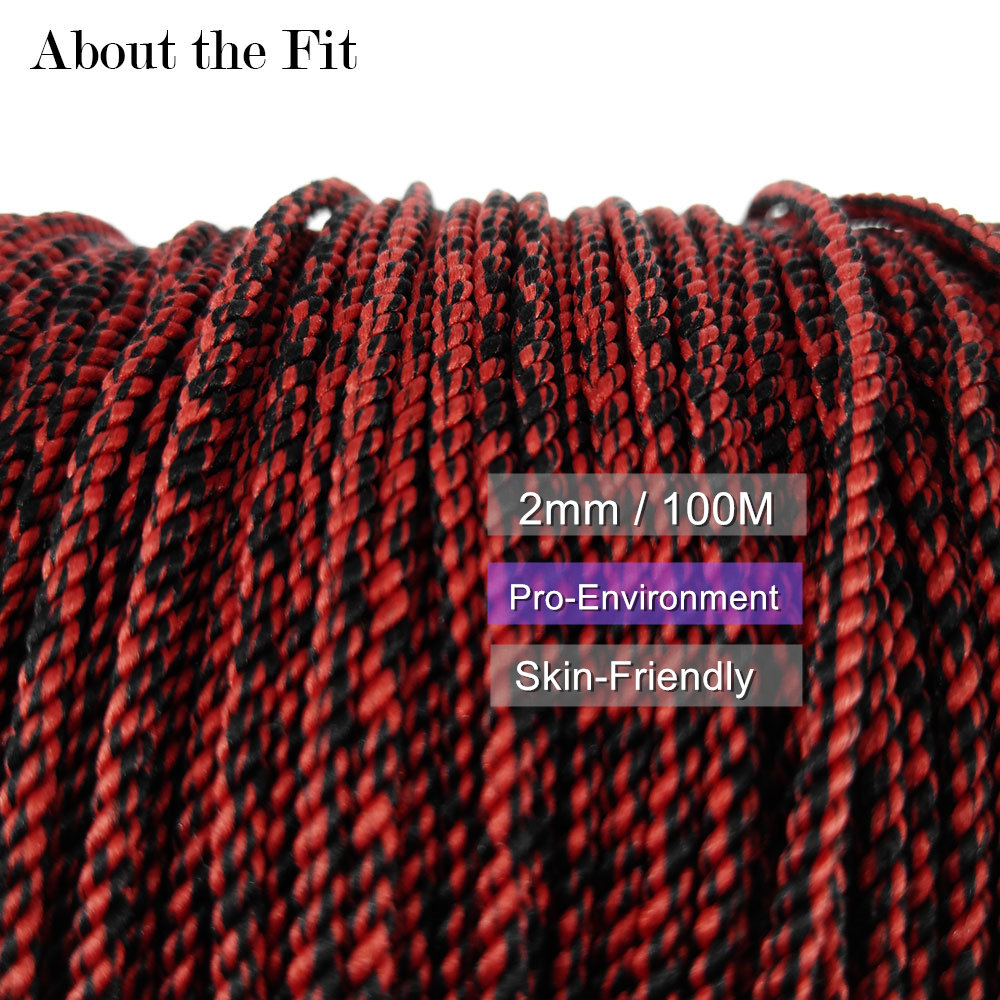 About the Fit Mixed Color Braided Thread 2mm 100M Artificial Silk Cord Woven Lace Melange Yarn Jewelry Beading HandCraft Finding цена