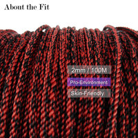 About the Fit Mixed Color Braided Thread 2mm 100M Artificial Silk Cord Woven Lace Melange Yarn Jewelry Beading HandCraft Finding